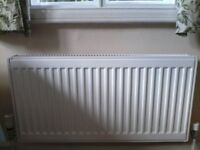 Three Central Heating Radiators all fitted with Thermostatic Valves. ALL WORKING