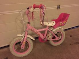 "Girls pink Apollo Cupcake 12"" bike, very little use"