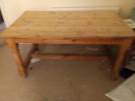 Family large solid wooden table