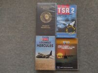 FOUR AIRCRAFT FILMS. 3 VHS Tapes, 1 DVD