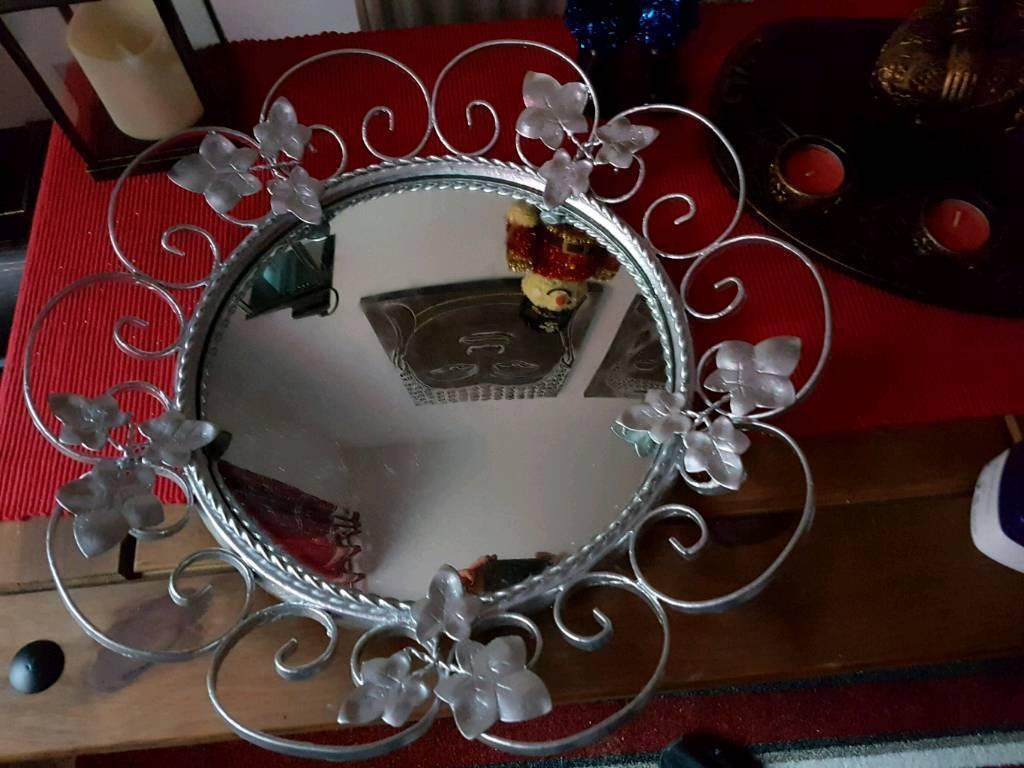 Vintage Mirror Painted Silver In Jarrow Tyne And Wear