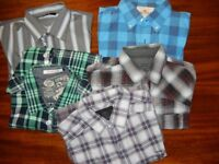 MEN'S SHIRT BUNDLE - 5 shirts (including Hollister, Jack & Jones & River Island) - large