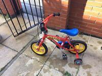 Children's fireman Sam bike