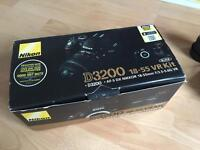 Nikon d3200 dslr camera with 18-55mm and 70-300mm and accessories