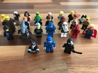 LEGO Mini Figures (25) and miscellaneous pieces in box