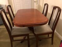 Dinning table and 4 chairs (Mahogany)