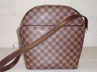 Louis Vuitton Damier Ebene Ipanema GM Shoulder Bag Handbag!!