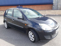 2007(57)FORD FIESTA STYLE 1.4 TDCi BLACK,5DR,£30 TAX,BIG MPG,CHEAP CAR