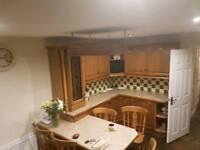 Kitchen . Soild chestnut including appliances