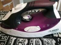 Morphy Richards iron + ironing board.