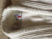 Judo suit, 100% white cotton, new