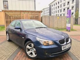 2008 BMW 530 525d AUTO BLUE 1 OWNER FROM NEW HPI CLEAR EXCELENT CONDITION 9 BMW SERVICE STAMPS