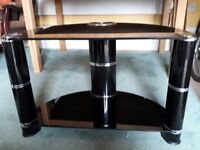 Glass Tv stand in Black