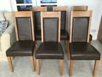 Six Oak Dining Chairs