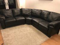 Corner Faux Leather Sofa