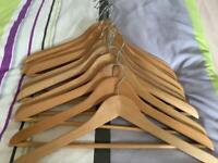 10 Wooden IKEA coat hangers