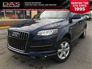 2013 Audi Q7 3.0T PREMIUM PANORAMIC SUNROOF/LEATHER/7 PASS