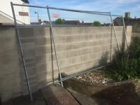 2 x Heras type fence sections + 2 x concrete feet.