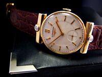 Rare 1953 SOLID 14K GOLD DIAMOND LUGS LONGINES Vintage Midsize Watch