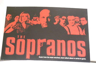 THE SOPRANOS Columbia Records/HotStamp promo only Post Card James Gandolfini
