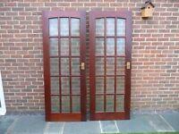 Hardwood glazed doors