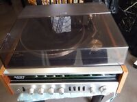 Vintage 80's original SONY HP-511A record player and radio made in Japan