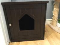 Cat House & Side Table | 49 x 51x 51 CM | Cat Home | Wood Cat litter Box | Litter Box Enclosure