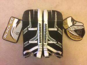 Warrior/Black Ice Street/Ball/Road Hockey Goalie Set - 28 Pads, Catcher and Blocker Teen/Adult