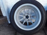 Mercedes A B C E alloy wheels and tyres .