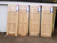 4 new internal 6 panel oak veneered doors