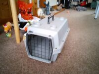 Small plastic pet carrier for sale