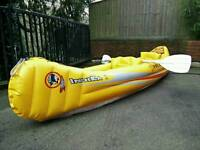 Indika 1, 2 person Inflatable Raft / Kayak With Oars + Accessories