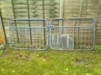 Blue Driveway Gates