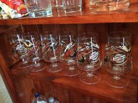 San Miguel glasses x 6