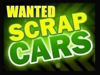 Wanted scrap cars van and bikes plus batteries