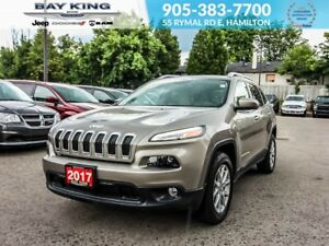 2017 Jeep Cherokee NORTH 4X4, BLINDSPOT, BACKUP CAM, REMOTE STAR