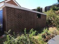 Brick effect prefab garage