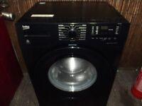 BLACK BEKO 7KG WASHING MACHINE IN GOOD CLEAN WORKING ORDER FULLY REFURBISHED & PAT TESTED