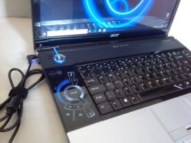 16'' ACER Aspire 6920G Laptop:*Core2Duo 2.00 GHz*320GB*4GB*WiFi*HD Cam*Win10Pro*Office2016Pro