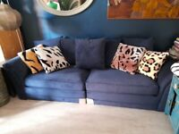 Barker Stonehouse stunning dark blue large sofa from show home
