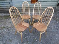 Fully Refurbished - Set of Four Ercol Quaker Dining Chairs - Osmo Polyx Oil