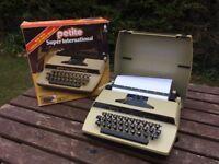 Petite Super International Typewriter Vintage Retro Toy Typewriter Original Box