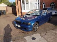 BMW E46 323ci Convertible 2.5L 153k full leather - 170 (168) bhp