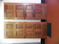5 Internal solid wood doors for £60 lot