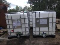 1000 litre ibc water tanks