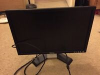 "19"" Dell PC Screen with cables"