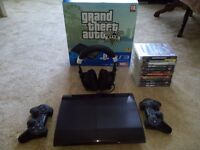 Sony Playstation 3 500gb Mega Bundle With 2 Real Controllers, 13 Games And A Wireless Headset