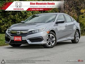 2016 Honda Civic LX Sedan w Auto Trans & Honda Plus