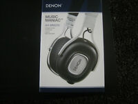 DENON MUSIC MANIAC AH-MM200 Portable On Ear Headphones. RRP £199. New.