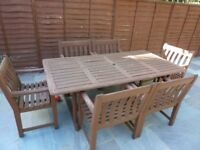 Alexander Rose Patio Table & 6 Chairs